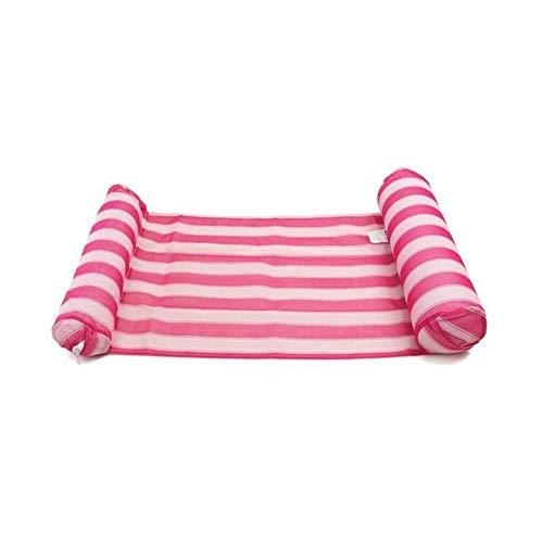 GPQHSM Bikini Matelas pneumatique Pliable Piscine Plage Gonflable Float Anneau Coussin Lit Lounge Chair Matelas Hamac Sports Nautiques (Color : Red)