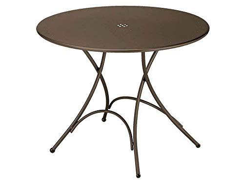 Pigalle Table ronde pliant Ø cm. 105 Art. 904 couleur Marron d'Inde Cod. 41