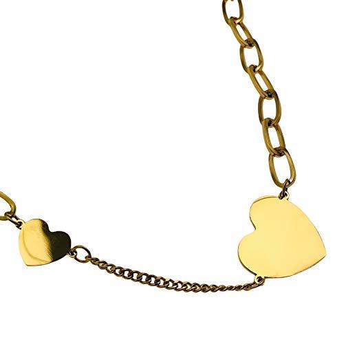 Halskette Berühmtheit AISADI 21020872/21 für ein Geschenk herz vergoldet antiallergikum aus chirurgischem stahl edelstahl MOONRIVER TTM XUPING BLUEBERRY STAINLESS STEEL SUNLIGHT