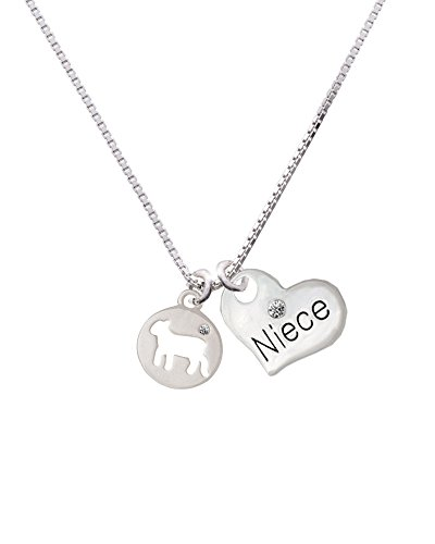 Delight Jewelry Lamb Silhouette - Niece Heart Necklace