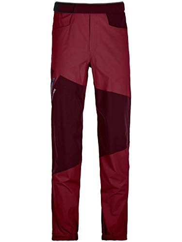 ORTOVOX Vajolet Pants M Pantalon Homme, Rouge (Dark Blood), XXL