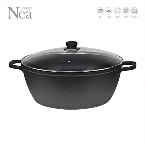 Nea Die-cast Casserole Non-stick Stockpot with Lid 40 cm - Black