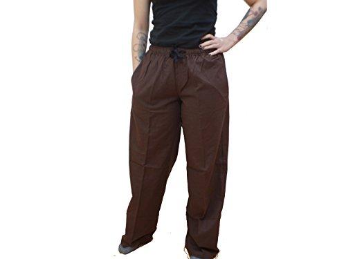 Trollfelsen Pantalones medievales Arian de algodn, para hombre, color marrn, disfraz de largura, cosplay, 1 pieza - XXXL