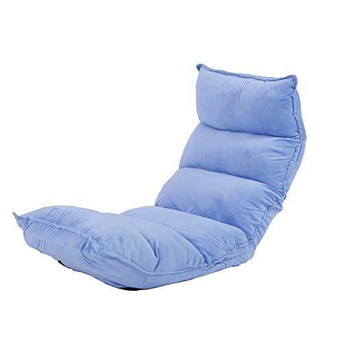 WKHQQ-sofá Sofá Perezoso Silla Plegable Silla reclinable extraíble Lavable de Tela Sofá Plegable (Color : Sky Blue)