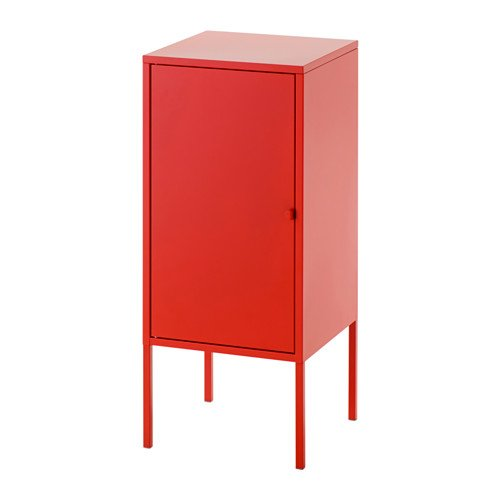IKEA Armario de almacenamiento, metal, rojo 1228.82620.302