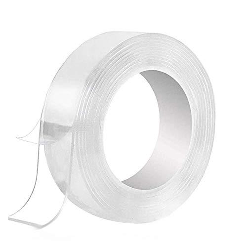 Cinta Adhesiva de Doble Cara Lavable Nano Tape, nano tape magic, Adhesivo antideslizante,Nano Tape Reutilizable Multifuncionales Transparente Traceless Grip Tape para Pared