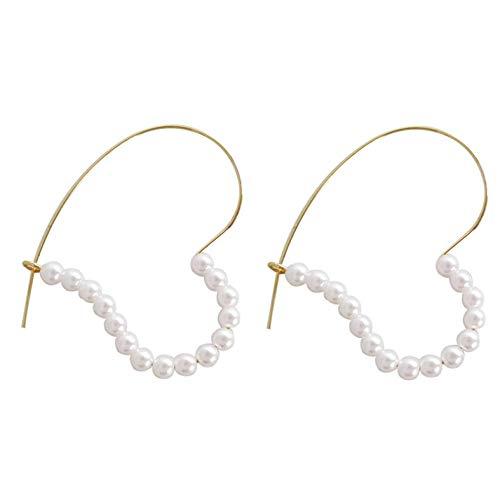 Empty oorbellen hart met parels geometrische schattige meisjes Belle Linee oorbellen voor dames sieraden