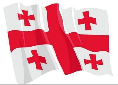 Autoaufkleber Sticker Fahne Georgien wehend Flagge Aufkleber