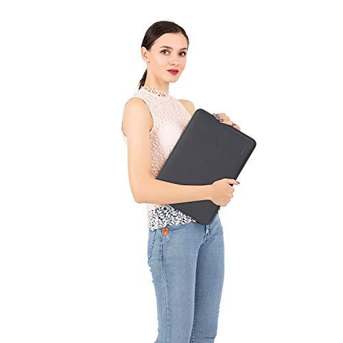 MOSISO Laptop Sleeve Kompatibel mit MacBook Air 13 A2337 A2179 A1932 2018-2020,MacBook Pro 13 A2338 A2251 A2289 A2159 A1989 A1706 A1708,Wasserabweisend Neopren Tasche mit Klein Fall,Space Grau