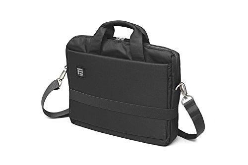 Moleskine ID Kollektion Horizontaler Messenger Bag mit Schultergurt (Gerätetasche für PC, Tablet, Notebook, Laptop und iPad bis 13'' - Maße 35 x 9,5 x 27 cm) schwarz