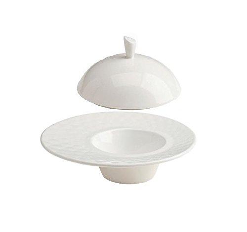 Tognana Assiette creuse Kaleidos avec cloche en porcelaine 26 cm.