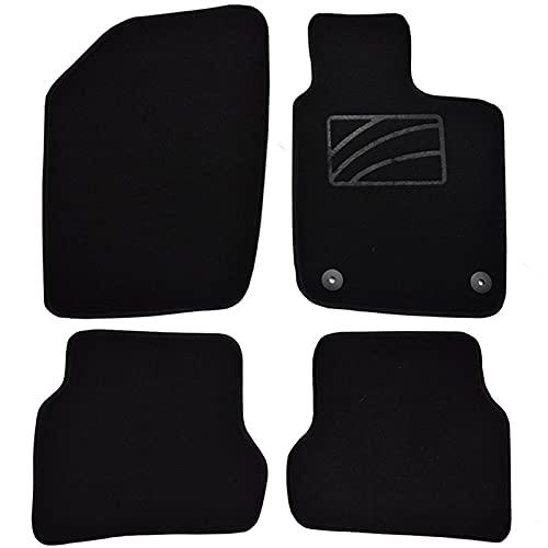PYSDWE Alfombrillas de Piso alfombras Frontal Trasero Negro Nylon (Color : Black)