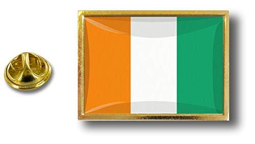 Akacha pins pin Badge pin's Metal Pince Papillon Drapeau Cote D'Ivoire ivoirien