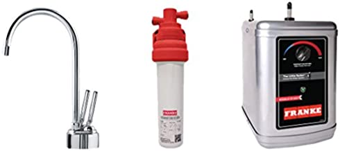Franke LB8200-100-3HT Twin Little Butler Under Sink 1300W Heat Tank Faucet and Filtration Kit, 9.5 x 17.25 x 14.5, Chrome