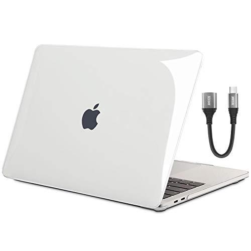 TECOOL Funda para MacBook Pro 13 2016-2020 (Modelo: A2338 M1/ A2289/A2251/A2159/A1706/A1708/A1989), Cubierta Plástico Dura Case Carcasa y Adaptador USB C para MacBook Pro 13 Touch Bar - Cristal Clara
