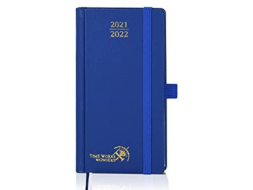 Agenda 2021 2022 Semana Vista Aprox. A6 - Agenda Escolar 2020-2021 (agosto 2021 - agosto 2022) con Páginas de Notas y Dirección, Tamaño Bolsillo 9 x 16,8 cm, Azul Real