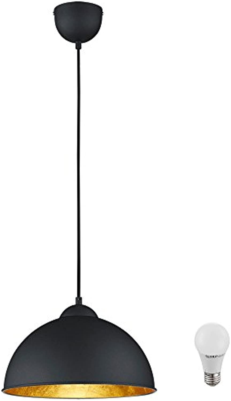 LED 7 Watt Pendel Leuchte Fabrik Hnge Lampe Beleuchtung Metall Schwarz EEK A+