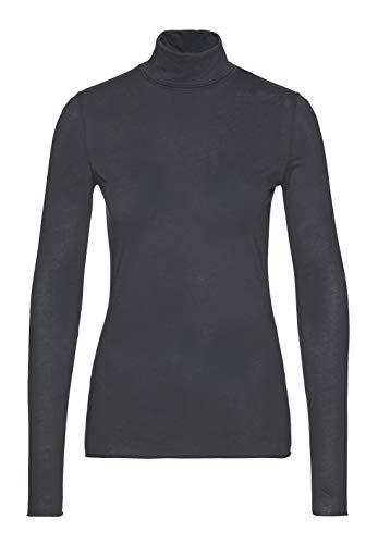 ARMEDANGELS Damen Longsleeve aus Bio-Baumwolle - MALENAA - XL Acid Black 100% Baumwolle (Bio) Shirts Longsleeve Langarm