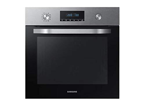 SAMSUNG NV68R3370RS - Horno Pirolítico, Dual Fan 68 L, Interior Cerámica Enamel, Steam Clean, Auto Cook y Guía Telescópica