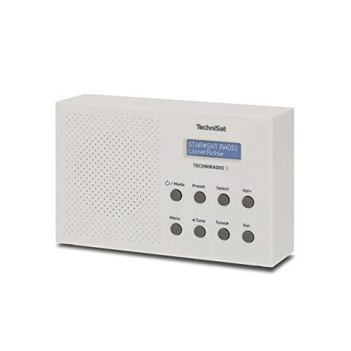 TechniSat TechniRadio 3 DAB Radio (DAB+, UKW, portabel, Radiowecker, Blockdesign) weiß