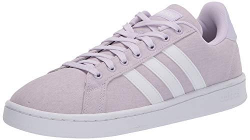 adidas womens Grand Court Sneaker, Purple Tint/Ftwr White/Ftwr White, 8.5 US