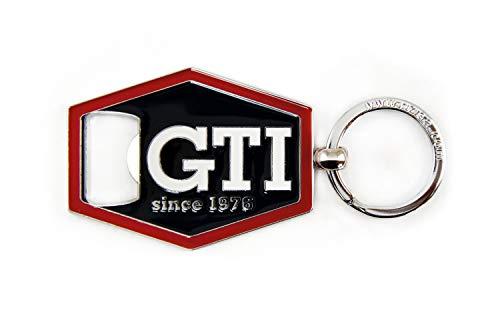 BRISA VW Collection - Volkswagen GTI Schlüssel-Anhänger-Flaschenöffner, Geschenk-Idee/Fan-Souvenir/Retro-Vintage-Artikel (Schwarz)