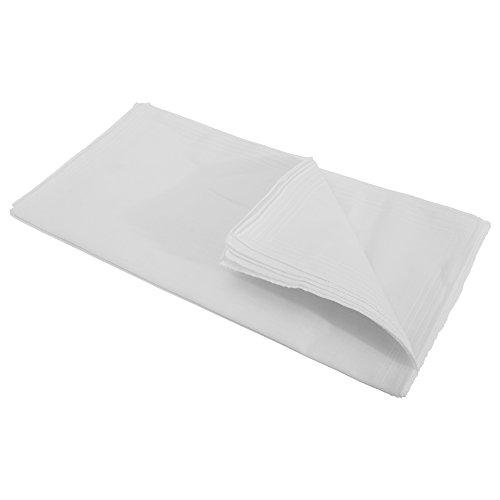 Textiles Universels Mouchoirs blancs unis (lot de 10) - Homme (Lot de 10) (Blanc)