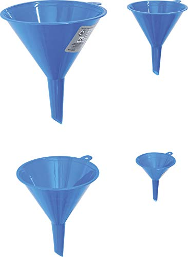 BGS Diy 8029 | Trichter-Satz | 4-tlg. | Ø 50 - 75 - 100 - 125 mm | Set | Kunststoff / Plastik | Einfüllhilfe