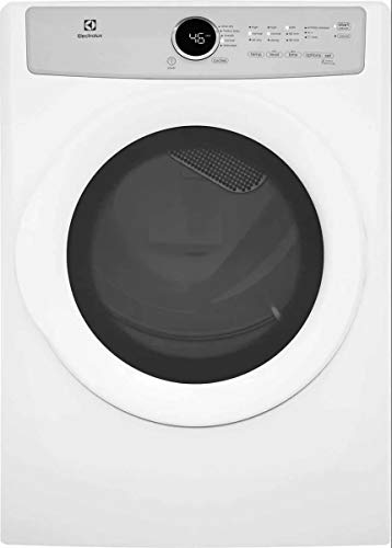 """Electrolux EFDG317TIW 27"""" Front Load Gas Dryer with 8 cu. ft. Capacity 5 Drying Cycles 3 Temperature Settings Wrinkle Release IQ-Touch Controls and 3 Dryness Levels in Island"""
