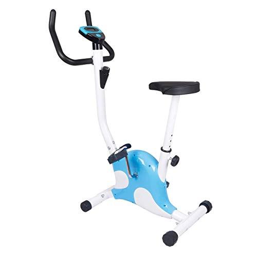 Ciclismo Indoor bicicleta estacionaria, suave y silencioso sistema de correa de transmisión del volante de bicicleta de ejercicios monitor LCD, asiento ajustable y manillar y Base de Entrenamiento for