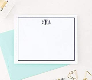 Monogrammed Stationary cards, Monogram Stationery Set, Monogrammed Note Cards, Monogrammed Gifts for Women, Your Choice of Colors and Quantity