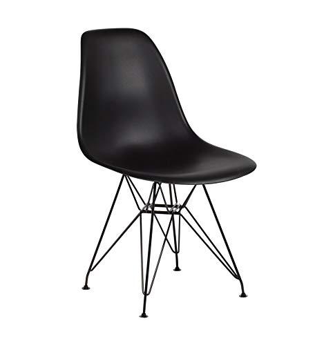 Icons Corner Pack 4 sillas Negra Patas Negras IMS Modelo Eiffel