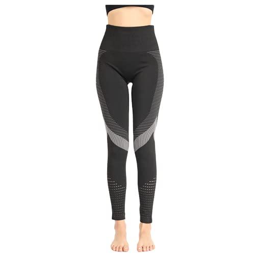 QTJY Señoras Ocio Estiramiento Push-up Pantalones de Yoga Fitness Correr Gimnasio Medias Deportivas Pantalones de Yoga de Cintura Alta sin Costuras AL