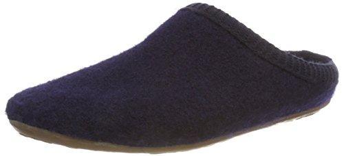 Haflinger Dakota Classic, Pantoffeln, Unisex-Erwachsene, Walkstoff aus reiner Wolle, Blau (Ocean 276)42 EUBlau (Ocean 276), 42 EU