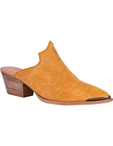 Dingo Womens Knockout Mule Shoes Leather Mustard 8.5 M