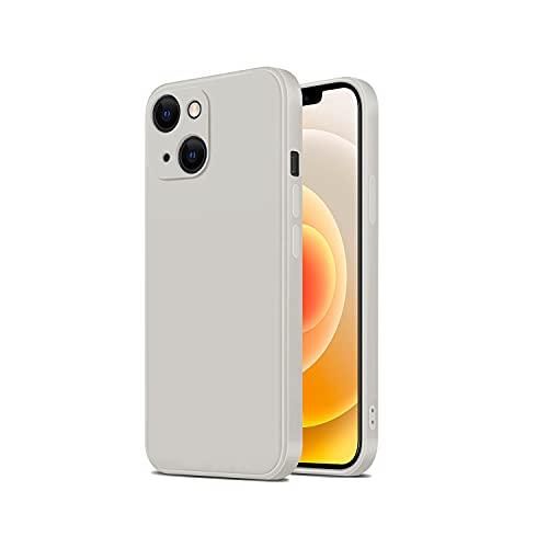 TANAKEY Silikon Hülle Kompatibel mit iPhone 13, Stoßfeste Handy Hülle aus Flüssigem Silikon Kompatibel mit iPhone 13 Pro & iPhone 13 Pro Max (13 (6,1 Zoll), Elfenbein)
