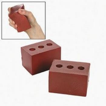 BRICK SHAPED STRESS TOY - Toys - 12 Pieces