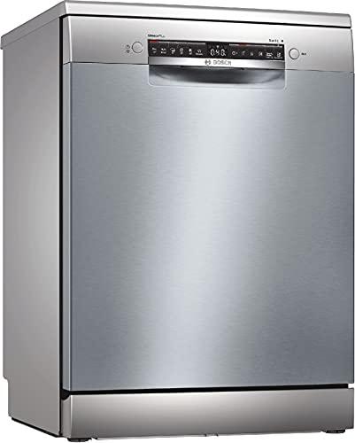 Bosch Elettrodomestici SMS4HCI52E Serie 4, Lavastoviglie da libero posizionamento, 60 cm, color inox