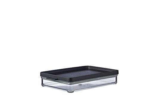 Mepal Omnia Kühlschrankdose, Butadien (ABS), Styrol-Acrylnitril (SAN), Thermoplastische Elastomere (TPE), Nordic Black, Länge: 230 mm, Breite: 149 mm, Höhe: 44 mm