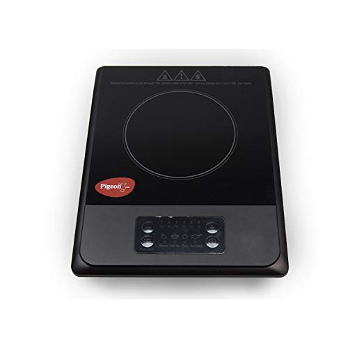 Pigeon by Stovekraft Amber Induction Stove, cooktop, Chula of 1500 watts with Feather Touch Control, 6 preset menu and Automatic Shut Off. A Smart Electric Stove for Your own Kitchen