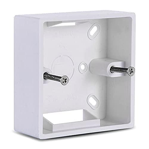 LRrui-Caja de terminales Caja de conexiones de engrosamiento de PVC, 86x86, casete de montaje en pared, para interruptor de la caja de la base de la base del interruptor, accesorios de caja eléctrica