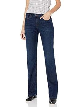 Amazon Essentials Women s Mid-Rise Authentic Bootcut Jean Dark Wash 14 Regular