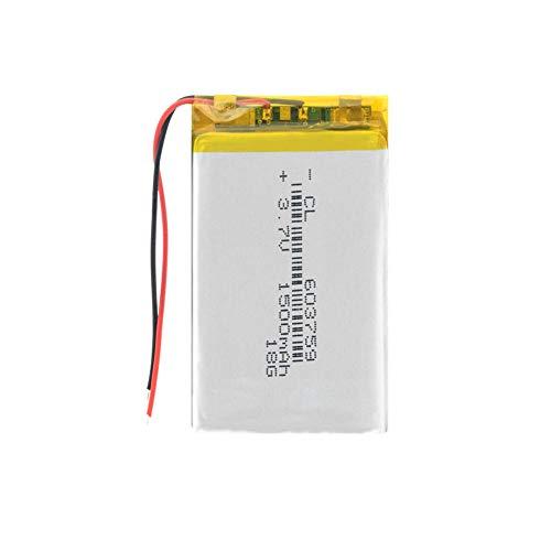 Dilezhiwanjuwu 3,7 V 603759 1500 mAh batería de Litio Recargable 59x37x6 m batería de polímero de Litio para GPS teléfono móvil Tableta Banco de energía