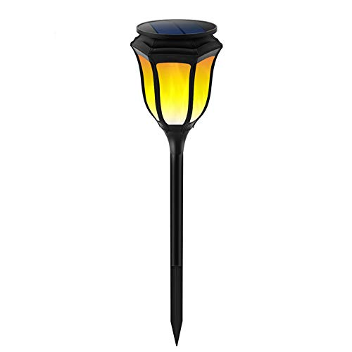 Waterproof Solar Torch Lights, Solar Lights, Auto On/Off Outdoor Decorative Lawn Lights with Flickering Dancing Flames, for Garden Pool Driveway Pathway