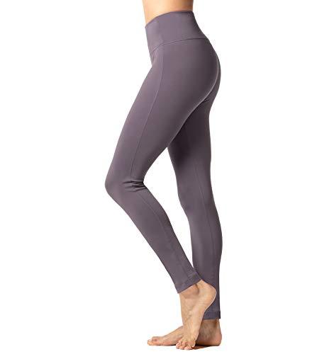 LAPASA Damen Thermo Leggings Innenfleece, Sport Leggins Lang Push Up High Waist Bauchweg mit Taschen MEHRWEG L36 (Violett, S)