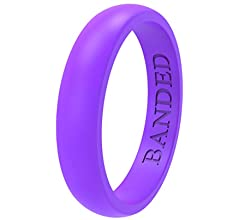 5.5mm and 8.7mm Wide Skin Safe Soft BANDED GLORY Silicone Wedding Ring for Men and Women Rubber Wedding Bands