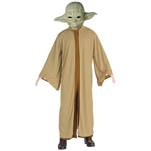 Amakando Meister Yoda Kostüm / Braun-Grün in Größe 56 (XL) / Tolles Starwars Outfit Jedimeister / Perfekt geeignet zu Fasching & Karneval