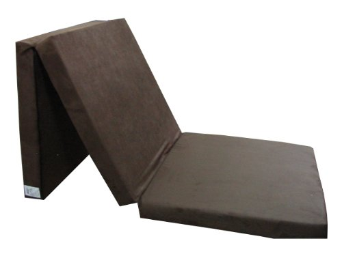 Natalia Spzoo Cama de invitados, colchón plegable 198 x 80 x 10 cm (Marrón)
