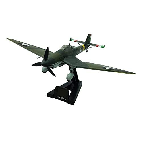 FGDSA Juguete 1/72 Escala Modelo de Bombardero Militar Ju97d Stuka Jg Bombardero Modelo de plástico coleccionables y Regalos para Adultos 8,3 Pulgadas X6,3 Pulgadas