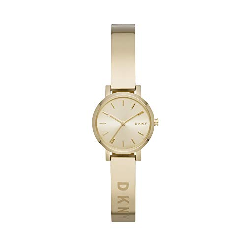 DKNY Women's Soho Slim Quartz Stainless Steel Three-Hand Watch, Color: Gold (Model: NY2307)